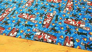 Textil - Bavlnená látka - Hasiči - cena za 10 centimetrov - 12196465_