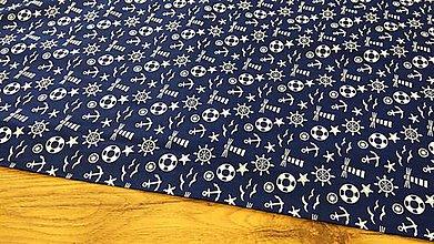 Textil - Bavlnená látka - Námornická - cena za 10 centimetrov - 12196470_