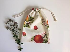 Úžitkový textil - Vrecká Ovocie - 12198355_