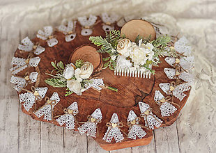 Ozdoby do vlasov - Svadobný set biela romantika - 12196161_