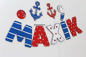 Tabuľky - Maxík Meno pre malého námorníka na stenu - 12198383_