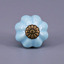 Polotovary - Porcelálová úchytka - bledomodrá - 12198394_