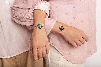Náramky - náramok Lívia (zelený) - 12196618_