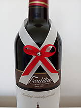 Svadobná mašľa na fľašu 10