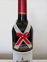 Pierka - Svadobná mašľa na fľašu 10 - 12196644_