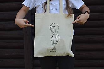 """Nákupné tašky - Plátenná eko taška """"pondelok..."""" - 12196693_"""