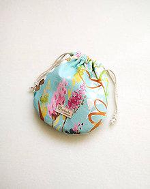 Taštičky - Kozmetická taštička - mešec, akvarel na tyrkyse - 12196585_