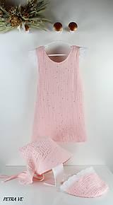 Detské oblečenie - Mušelínové šaty detské - SVETLORUŽOVÉ - 12198621_