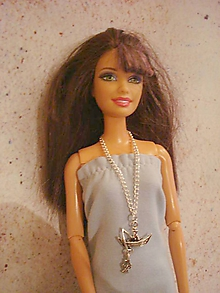 Hračky - Barbie - náhrdelník, chytám zlatú rybku! - 12198429_