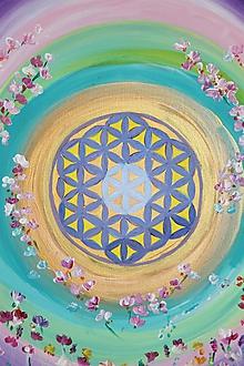 Obrazy - Kvet života - 12196600_