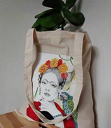 Nákupné tašky - Plátená taška Frida - 12196364_