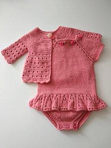 Detské oblečenie - Lososový svetrík - 12196270_