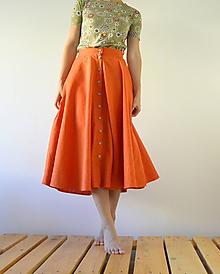 Sukne - Ľanová sukienka Magdaléna - 12196457_