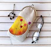 Taštičky - Púzdro na okuliare Žltý kruh - 12198160_