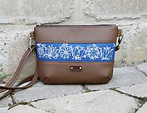 Kabelky - Modrotlačová kabelka Lea hnedá AM 1 - 12196286_