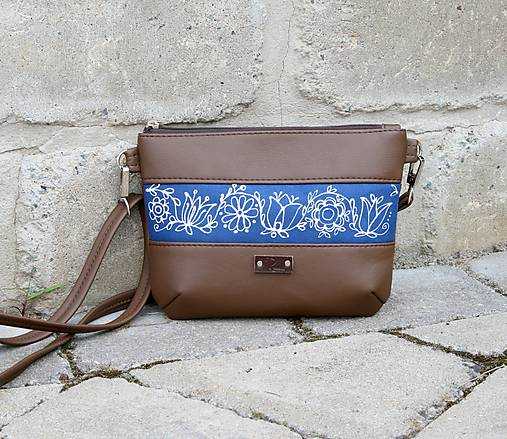 Modrotlačová kabelka Lea hnedá AM 1
