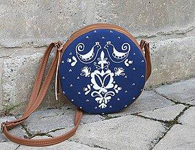 Kabelky - Modrotlačová kabelka Tina hnedá AM1 - 12196280_