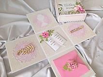Papiernictvo - Gratulačná krabička Exploding box na Prvé sväté prijímanie - 12196381_