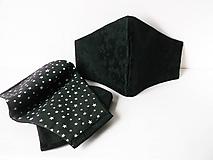 Rúška - 2 vrst./čierne - 12197759_