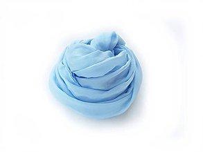 """Šály - """"light blue""""  hodvábny šál skladom:-)) - 12197633_"""