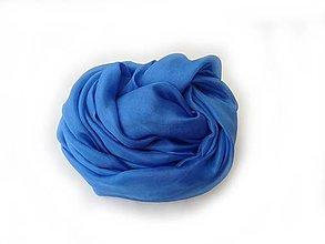 """Šály - """"azur blue""""  hodvábny šál skladom:-)) - 12197698_"""