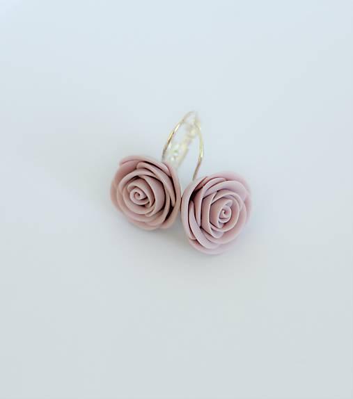 Náušnice Ružový popol