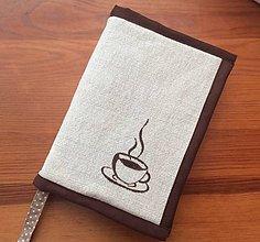 Papiernictvo - obal na knihu kávička - 12200558_