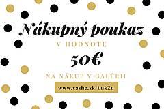 Darčekové poukážky - Darčeková poukážka v hodnote 50€ - 12200807_