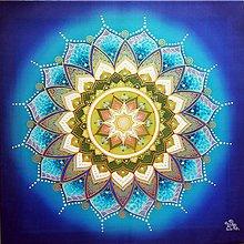 Obrazy - Mandala tvorivej sily, zdravia a komunikácie - 12199654_