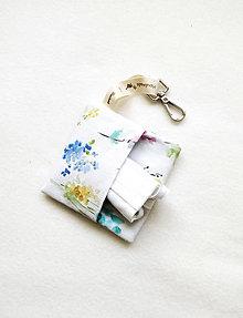 Taštičky - Puzdro na rúško, akvarelové kvietky - 12199761_