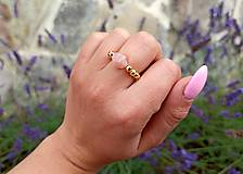 Prstene - Prsteň Morganit na gumičke - 12199411_