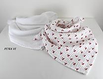 Čerešňová - mušelínová šatka, malá