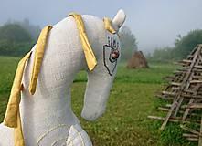 """Hračky - ľanový koník """"Slncová"""" - 12199831_"""