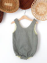Detské oblečenie - Overal Khaki Yellow - 12200830_