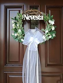 Dekorácie - Svadobný veniec na dvere - 12199260_