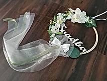 Dekorácie - Svadobná obruč - biela Svadba - 12199452_