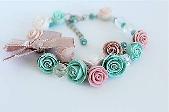 Náramky - Náramok Summer Rose dream - 12200603_