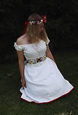 Šaty - Svadobné šaty z ľanu - 12200669_