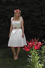 Šaty - Svadobné šaty z ľanu - 12200670_