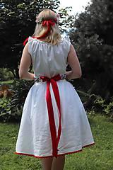 Šaty - Svadobné šaty z ľanu - 12200671_