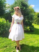 Šaty - Svadobné šaty z ľanu - 12200674_