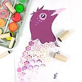 Hračky - PUNTÍKOVÁNKY . ptáčci . - 12199850_
