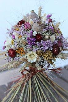 Dekorácie - Sušená kytica, veľká - 12203175_