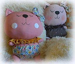 Bábiky - ružový Pampúch - 12203263_