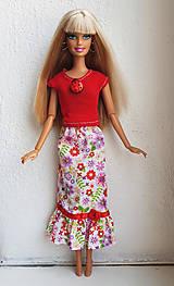 Hračky - Kvetinová sukňa pre Barbie - 12202507_