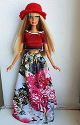 Hračky - Kvetinová maxi sukňa pre Barbie - 12202525_
