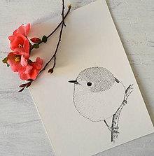 Kresby - Vtáčatko (A5 - 148 × 210mm) - 12201300_
