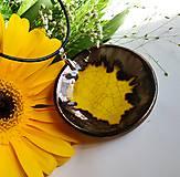 Náhrdelníky - Keramický prívesok  - Okrúhly, slnečnicový... - 12203283_