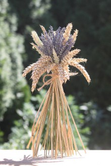 Potraviny - Levanduľová kytička s obilím VINTAGE svadba - 12201428_