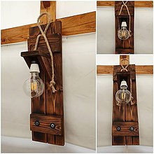 Svietidlá a sviečky - Drevena lampa okenica - 12202237_